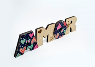 Placa Decorativa Amor