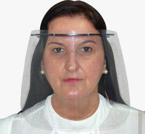 Máscara protetora facial contra COVID-19