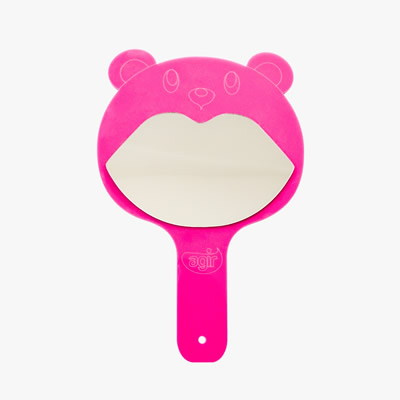 Espelho urso rosa